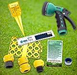Lawn & Garden Outdoor Water Saving Eco-Kit, hose nozzle, rain gauge, repair & conserve