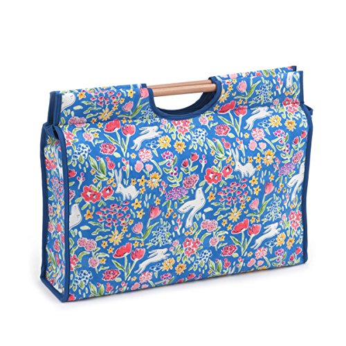 Hobby Gift 'Garden Blueberry' Craft Bag with Wooden Handle 11 x 42 x 30cm (d/w/h)