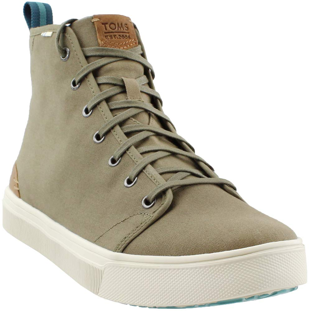 TOMS Men's TRVL LITE High Military Olive/Camo Canvas 8.5 D US