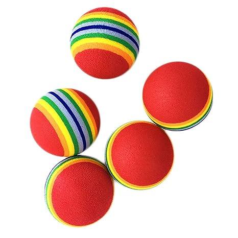 Milopon juguetes pelota, multicolor bolas ocio para divertida gato ...