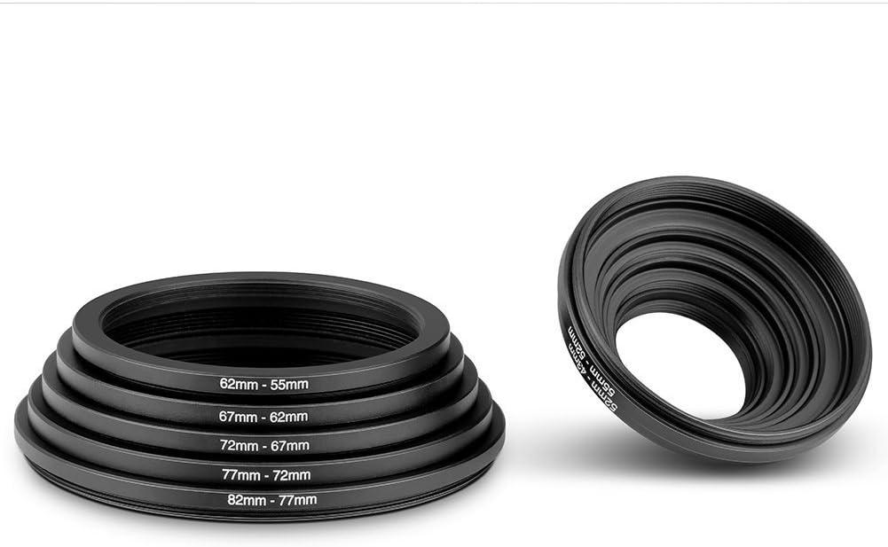 Lens Adapter for Camera Filter Adapter Ring Market/&YCY 72-77mm Camera Black Aluminum Adapter Ring