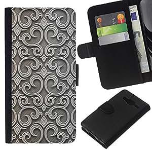 EJOY---La carpeta del tirón la caja de cuero de alta calidad de la PU Caso protector / Samsung Galaxy Core Prime / --Estructura Wall Art Oriente Medio Arquitectura