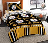The Northwest Company NFL Pittsburgh Steelers Twin Bed in a Bag Complete Bedding Set #273249838