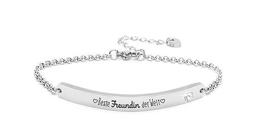 Größe 40 Rabatt zum Verkauf 100% authentisch Silvity Damen Gravur-Armband Edelstahl veredelt mit einem Swarovski¨  Kristall 16,5 cm bis 20,5 cm Farbe: Silber