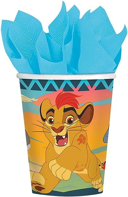 Amazon.com: Lion Guardia 9 oz vasos de papel 8 Count Rey ...