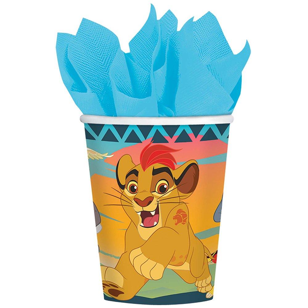 La Guardia de León 260 ml vasos de papel (8 hilos): Amazon ...