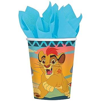 Amazon.com: amscan Lion Guard 9 oz. Paper Cups 8 Count Lion ...