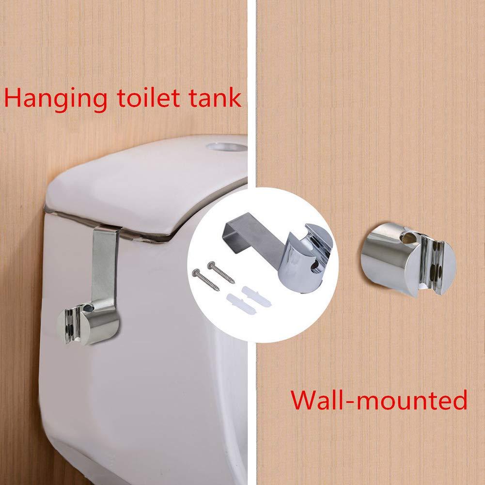 RUNGAO Pulv/érisateur /à Main pour Toilettes Douchette Bidet Douchette Bidet Eau Manuelle et Automatique Id/éal pour WC Suspendu