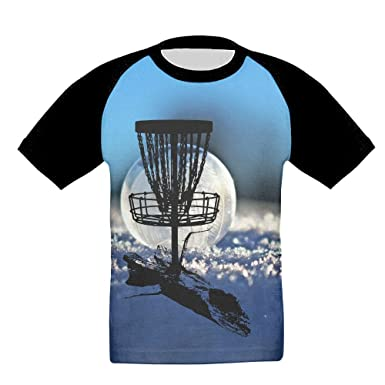 d86cfedf Amazon.com: Disc Golf Tree Roots Boys Pattern Short Sleeve T-Shirt ...