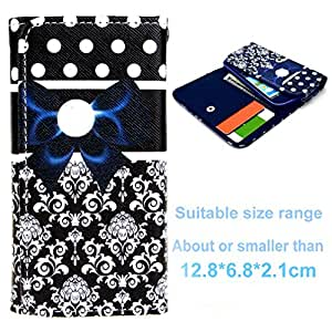 Leathlux Flower with Bow Button Wallet PU Leather Multipurpose Case With Card Slots Protective Skin for Samsung Galaxy (G313H G357FZ S7562 G3502 G350E i9190 ect.) / SONY (ST26i Z1MiNi Z3MiNi) / LG (G2MiNi L7 L50 L70 L65) / NOKIA (N820 N9 NOKIA X2) Lenovo A308 / HUAWEI Y330 / HTC ONE V / Apple iphone 4 4s / Motorola Moto E / Alcatel Pop C3