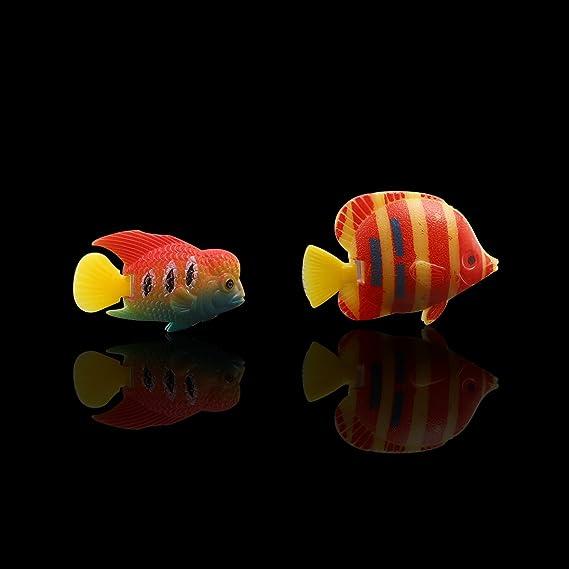 Gaetooely 10 /× Decoracion Artificial Flotante Decoracion de pez Pez Decorativos del Acuario Suministros de Tanque