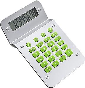 Calculators, SINLOOG 8-Digit Novelty Twisted Screen Basic Desktop Calculator, LR1130 Battery Powered, Standard Function Creative Design Electronic calculators for Office/Home/School (Silver)