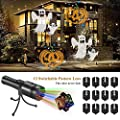 Winique Handheld Halloween Projector Lights, 12 Slides Projection Holiday Lights, Battery-Operated 2 in 1 Decoration Light & Handheld Flashlight for Home Party, Birthday, Christmas, Easter from WINIQUE