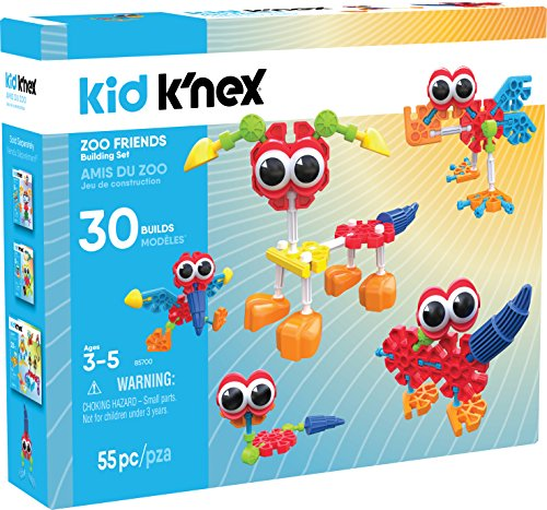 K'Nex Zoo Friends Construction Toy (55 Piece) - Kid Knex Building