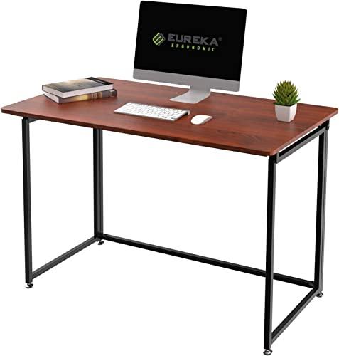 EUREKA ERGONOMIC Modern Folding Computer Desk Teen Student Dorm Study Desks 43-inch Cherry Fold up Desk