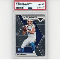 $199 » Graded 2020 Panini Mosaic Justin Herbert #263 Rookie RC Football Card PSA 10 Gem Mint