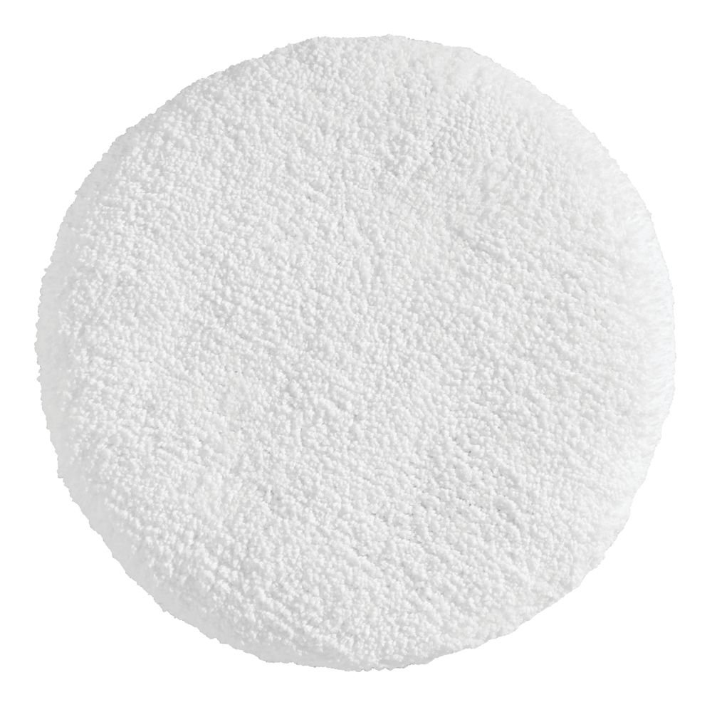 InterDesign Microfiber Polyester Spa Toilet Lid Cover - White,