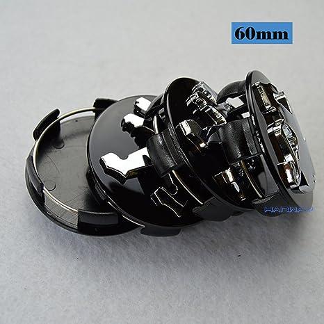 Hanway negro Silvery 4 piezas 60 mm Peugeot emblema adhesivo centro de rueda Hub Caps Cubiertas