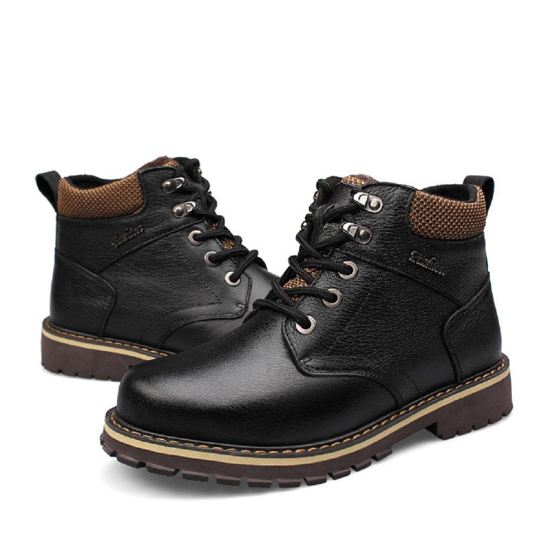 Herren Winter Plus Kaschmir Martin Stiefel Warm halten Baumwollstiefel Draussen Schuhe Lässige Schuhe Draussen Lederstiefel EUR GRÖSSE 38-50 46840a