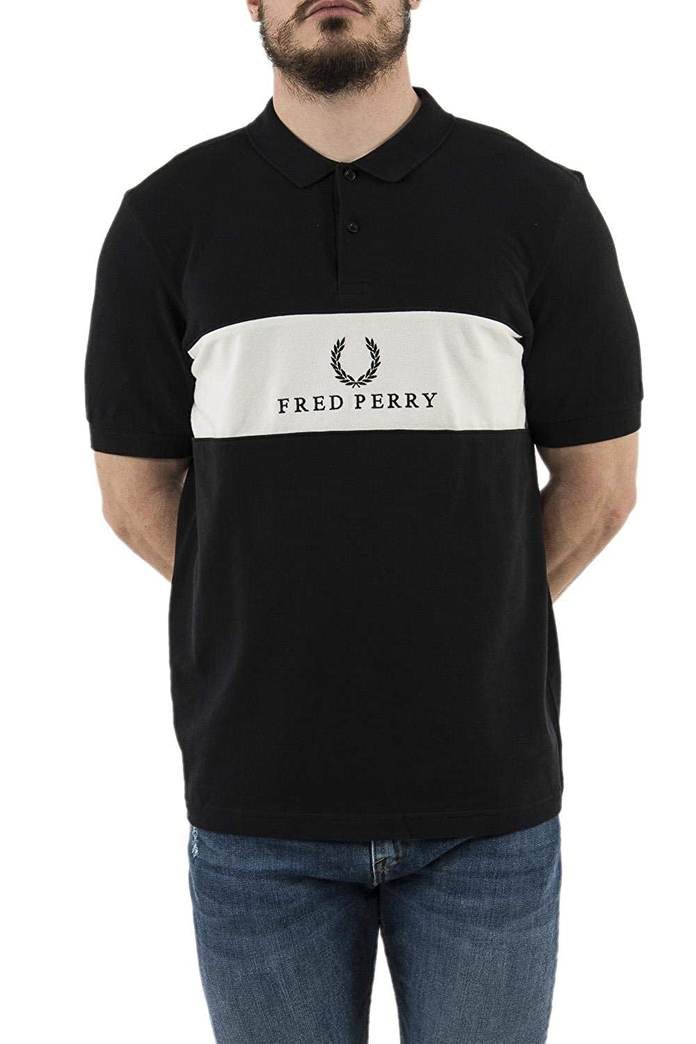Fred Perry Panel Piped Pique Shirt, Polo: Amazon.es: Ropa y accesorios