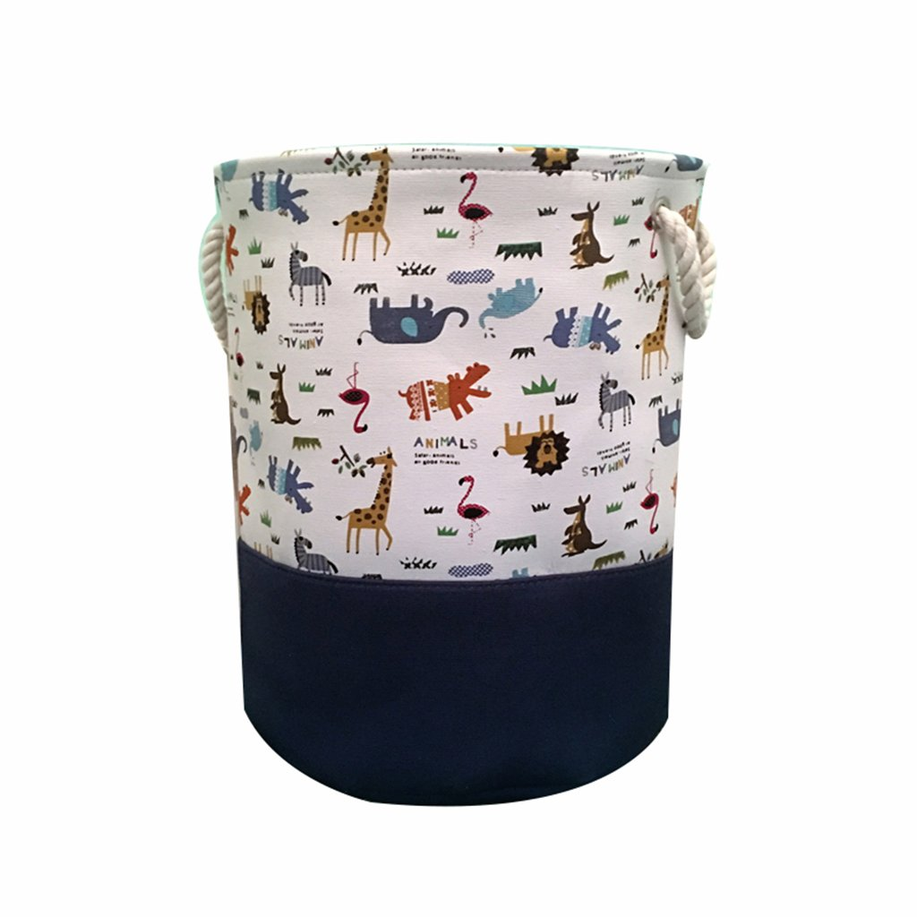LIU RUOXI Dirty Clothes Laundry Basket, Waterproof Foldable Laundry Hamper, Toy Storage Basket,Linen Storage Bucket(Animals)