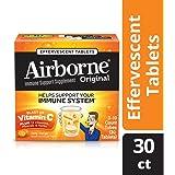 Airborne Vitamin C 1000mg Immune Support Supplement, Effervescent Formula, Orange, 30 Count