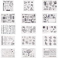 PandaHall Elite 15 Vellen Geassorteerde Patroon Siliconen Transparant Clear Siliconen Stempel / Zegelvellen Voor DIY…