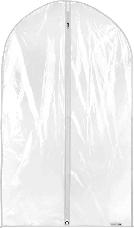 HANGERWORLD 6 Clear 40inch Showerproof Mixed Trim Garment Suit Clothes Coat Zipped Protector Covers Bag