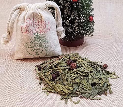 Seasonal Potpourri - Cat In A Christmas Tree Decor | Merry Christmas Herb Sachet | Seasonal Potpourri | Holiday Aromatherapy | Christmas Ornament | Cedarwood Bag