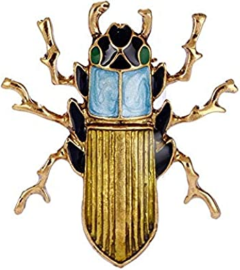 Enamel Insect Bee Brooch Pin Silk Scarf Buckle Coat Western Ornament Badge Christmas New Year Gift