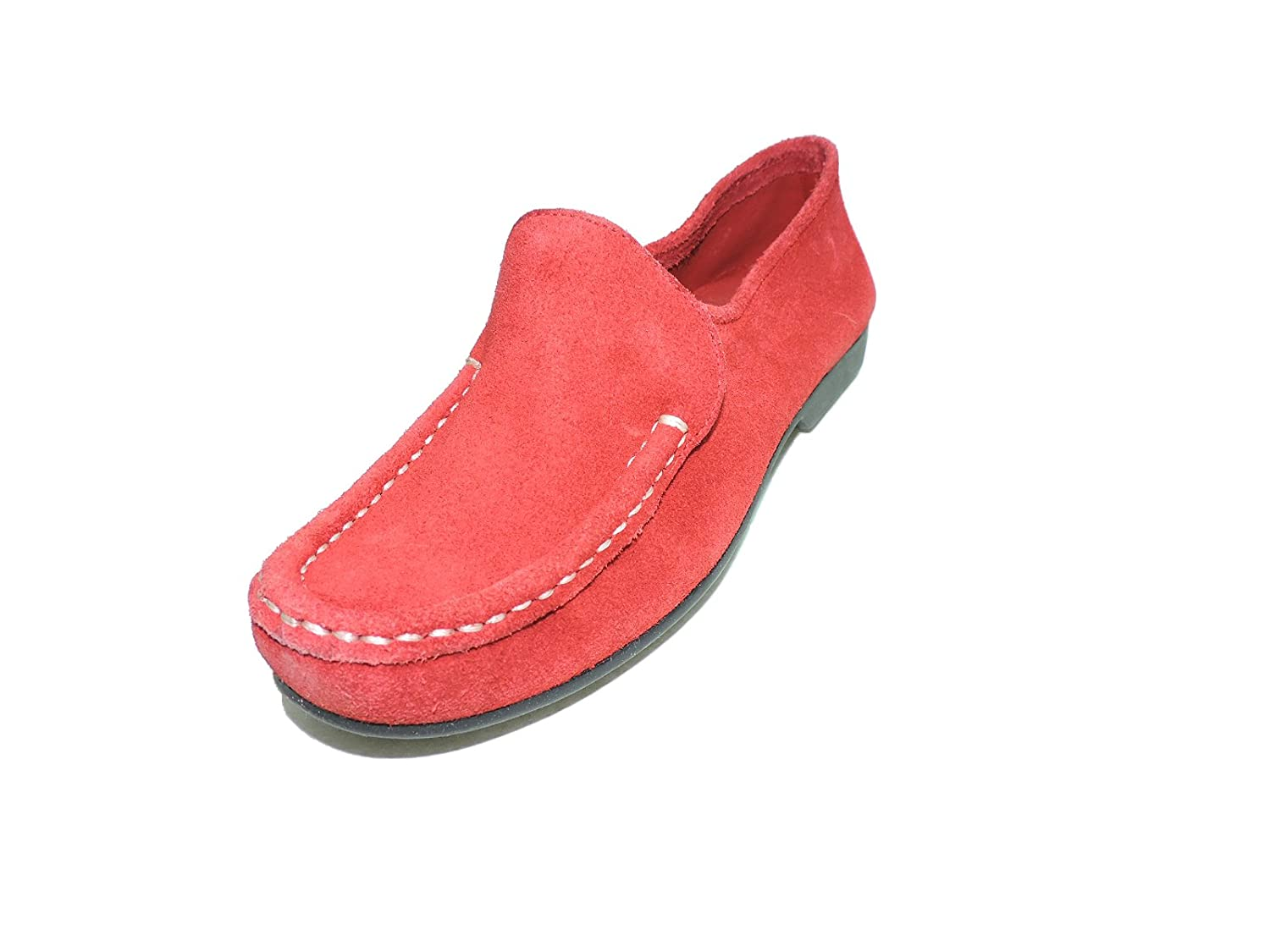 Bernardo Womens Guidabene Red Suede Flat, Moccasin Loafer