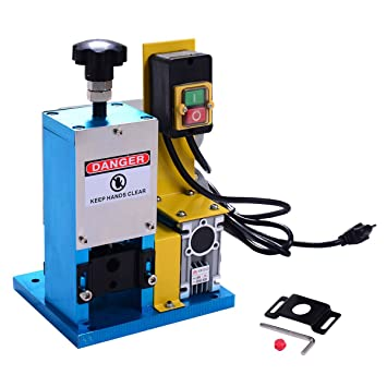 Goplus Powered Electric Wire Stripping Machine Portable Scrap ...