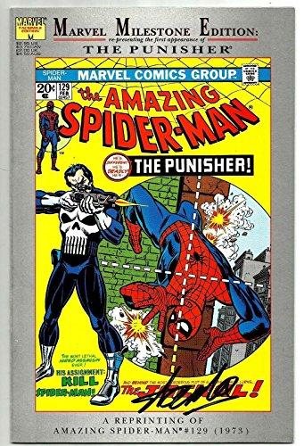 Stan Lee Signed Marvel Milestone Amazing Spiderman #129 W/ Stan Lee Hologram