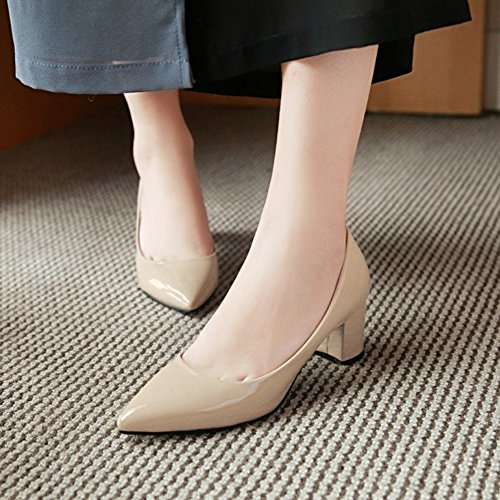 Coolcept Women Slip On Court Shoes Beige-6CM AUwOGDO