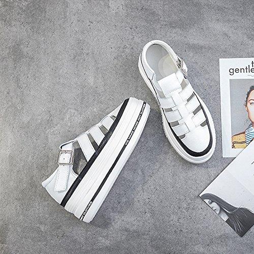 Nye Sort Sport platform Sandaler Fritid Universelle Såler Sommer Qqwweerrtt Mode Sko Studerende Syge Kvindelige Roma Og For HAWwR7Zq