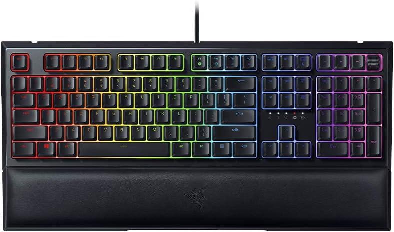 Razer Ornata V2 Teclado Gaming, Teclado de membrana mecánica con Iluminación Razer Chroma RGB, Switch Mecánico, ES Layout, Color Negro