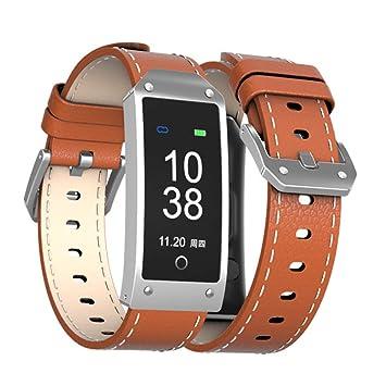 ZMM Reloj Inteligente Bluetooth con Monitor De Ritmo Cardíaco IP67 Impermeable Actividad Tracker Bluetooth Smartwatch para Android,Orange: Amazon.es: Hogar