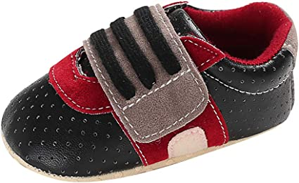 Voberry Baby Shoes Soft Bottom Anti-skid Leather Sports Shoes For Infant Toddler
