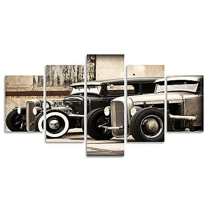 Amazon.com: 5 Panel Wall Art Old Vintage Truck On The Prairie ...