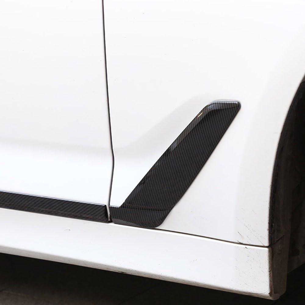 6/x in fibra di carbonio decorazione modanatura sportello ABS cromato per New 5/Series G30/2017/2018/year Model