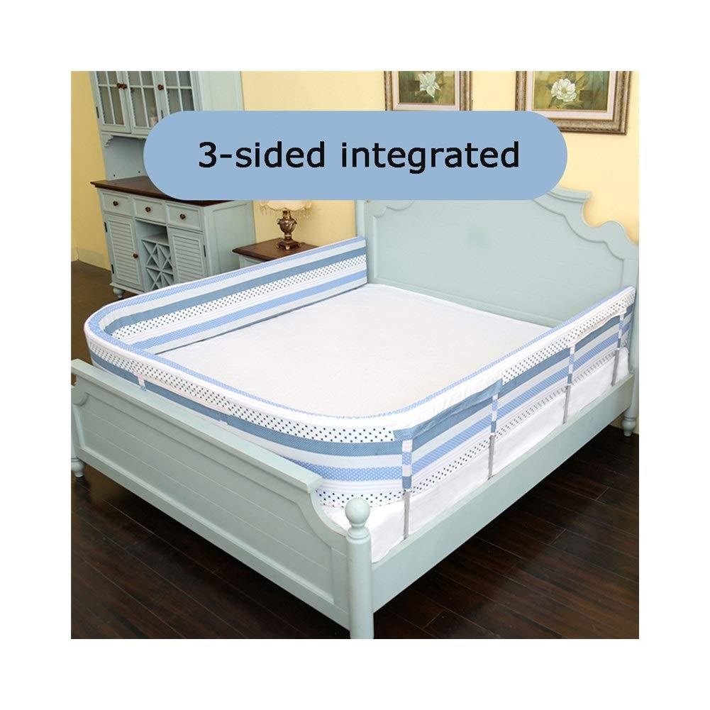 CQILONG ベッドレール ベビー用ベッドガードフェイス 子供用ベッドレール DIY自由フォールド スポンジアウトベッドベッドレール 幼児、子供に適して 5色 (Color : Blue, Size : 540x6x30cm) 540x6x30cm Blue B07SKMNWXM