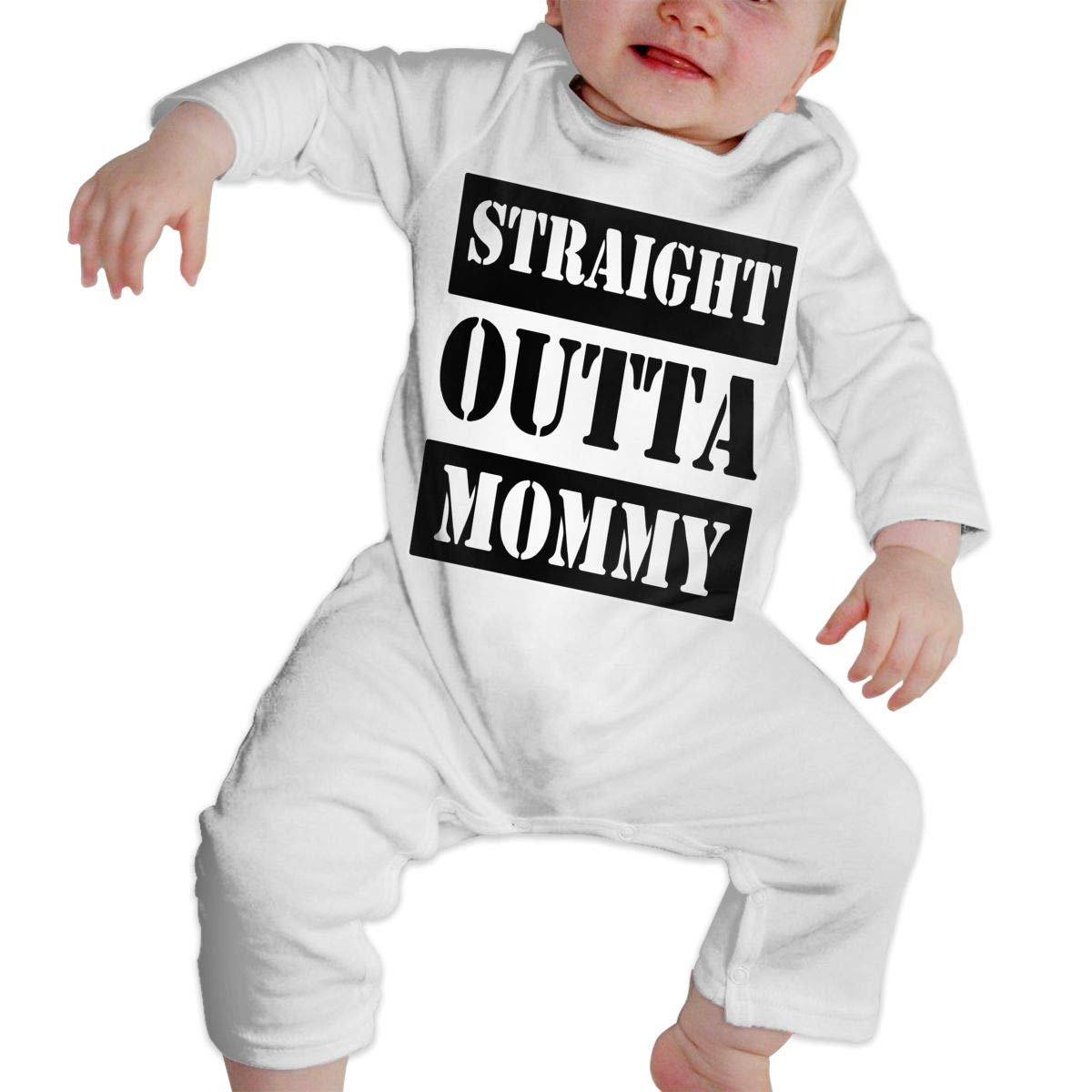 LBJQ8 Straight Outta Mommy Baby Infant Girls Essential Basic Romper Jumpsuit Outfits Clothes