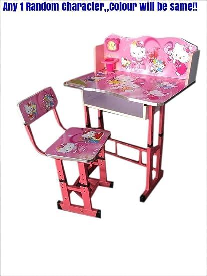 Enjoyable Kajal Toys Kids Study Wooden Hello Kitty Character Table Evergreenethics Interior Chair Design Evergreenethicsorg