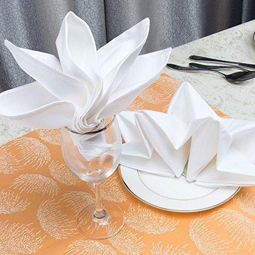 300 NEW PREMIUM WHITE COTTON RESTAURANT WEDDING DINNER CLOTH LINEN NAPKINS 20X20 (300) by Gold textiles (Image #3)