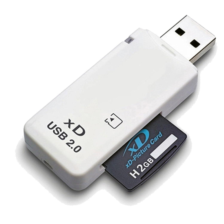 LUPO S-CR-4030 - Lector de Tarjetas de Memoria XD USB 2.0 Para Cámaras Fuji y Olympus (Compatible con Windows + Mac)