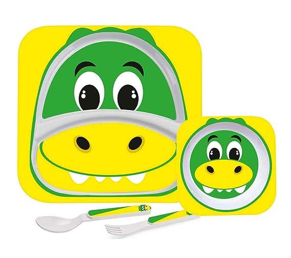 Cello Melmoware Kids Meal Set of 4, Crocodile Design