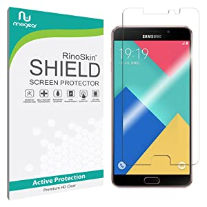 Samsung Galaxy A9 Screen Protector [Military-Grade] RinoGear Premium HD Invisible Clear Shield w/ Lifetime Replacements