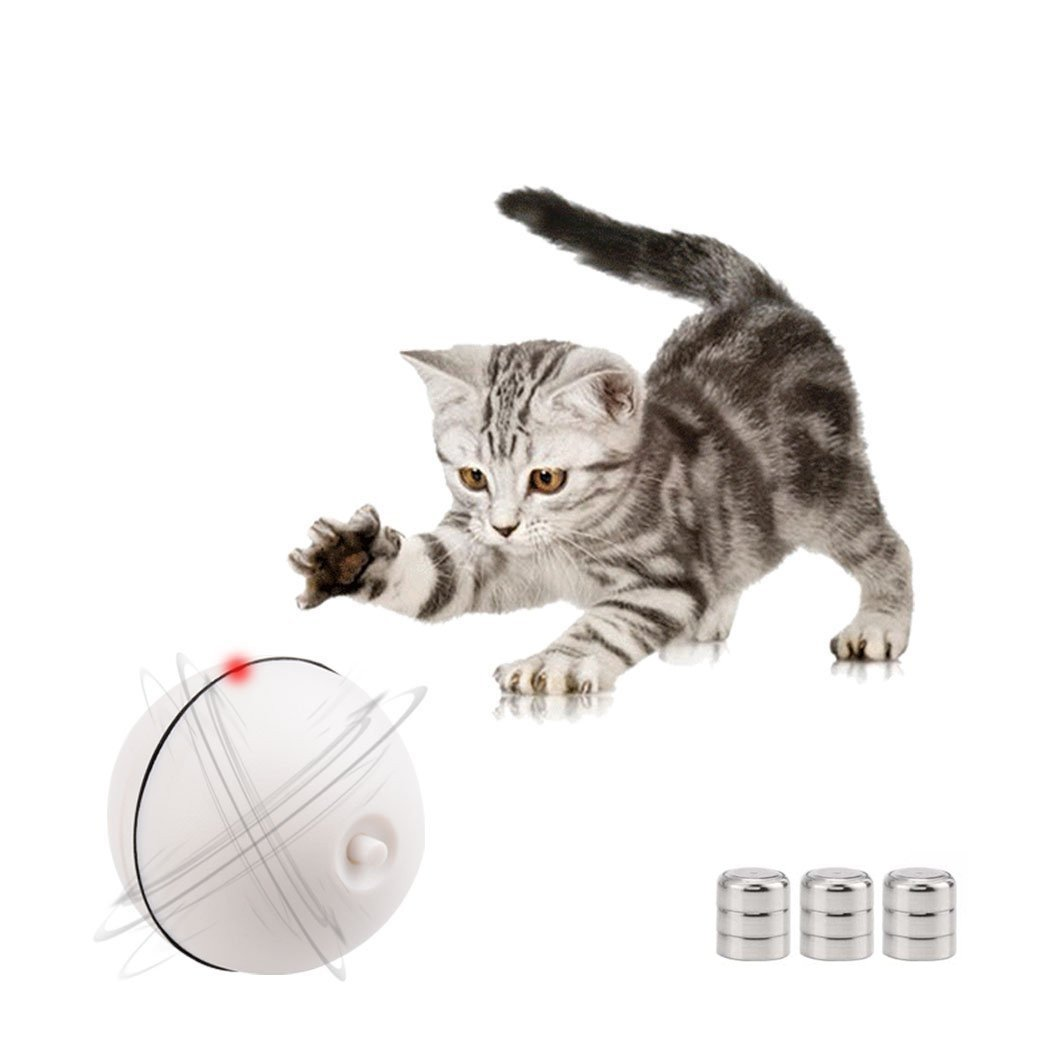 Wanfei Automatic Self Rotating Ball Light Toy Electronic Auto Motion LED Ball Pet Toy Interactive Cat Toys