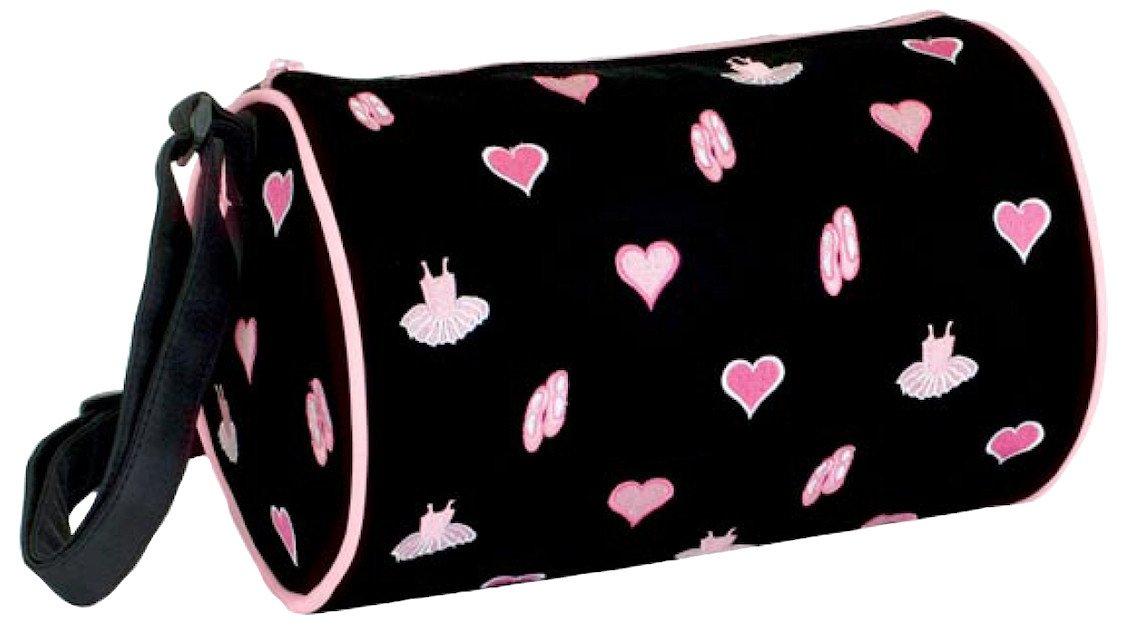 DansBagz by Danshuz Women's I Love Tutus and Toe Shoes Roll Duffel Bag, Black, OS