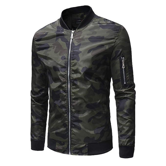 9bd819d2 Toimothcn Men's Boys Lightweight Full Zipper Camouflage Jacket Long Sleeve Casual  Slim Fit Coat(Army